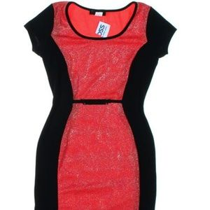 NWT shimmering red and black dress (252)